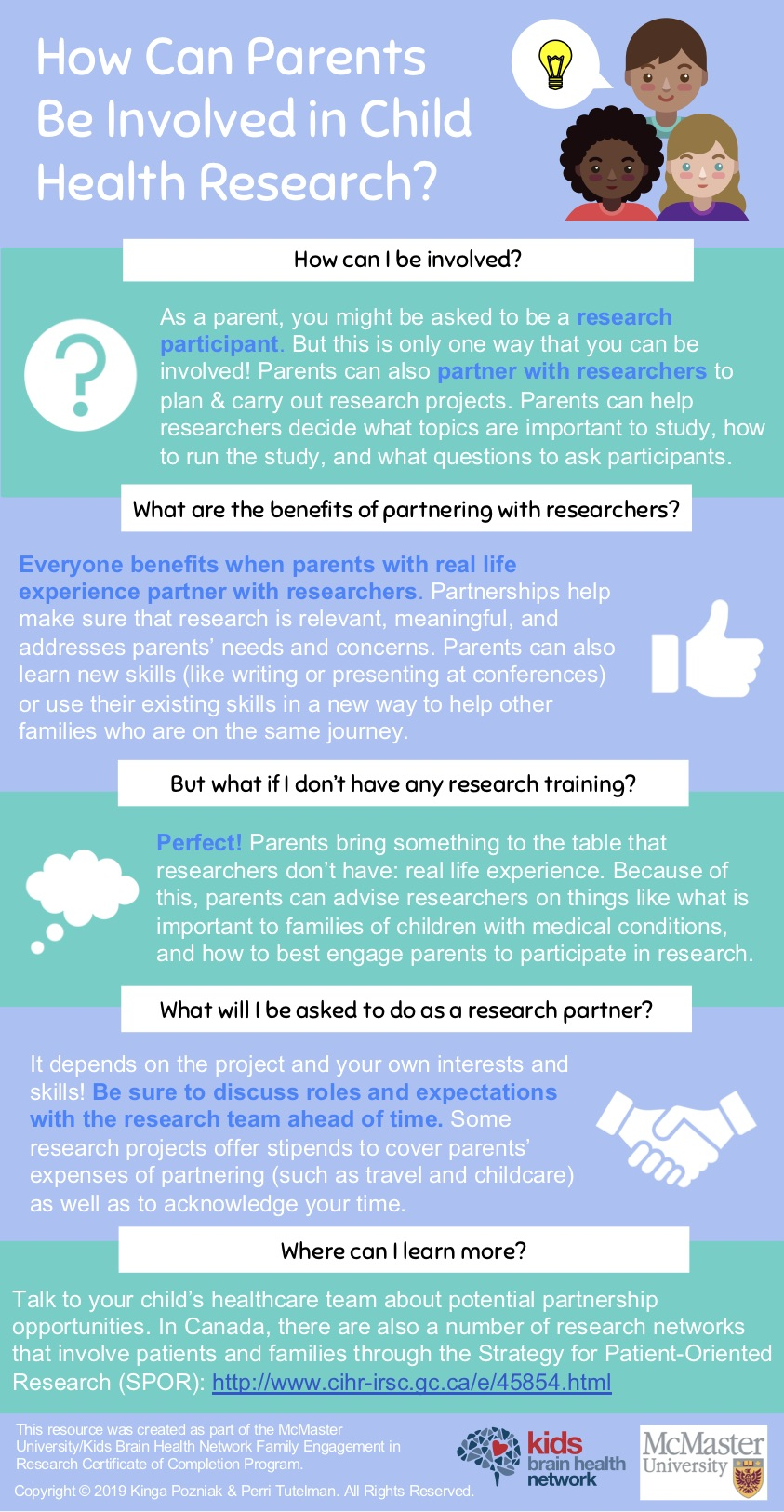 Parent Involvement in Health Research Infographic