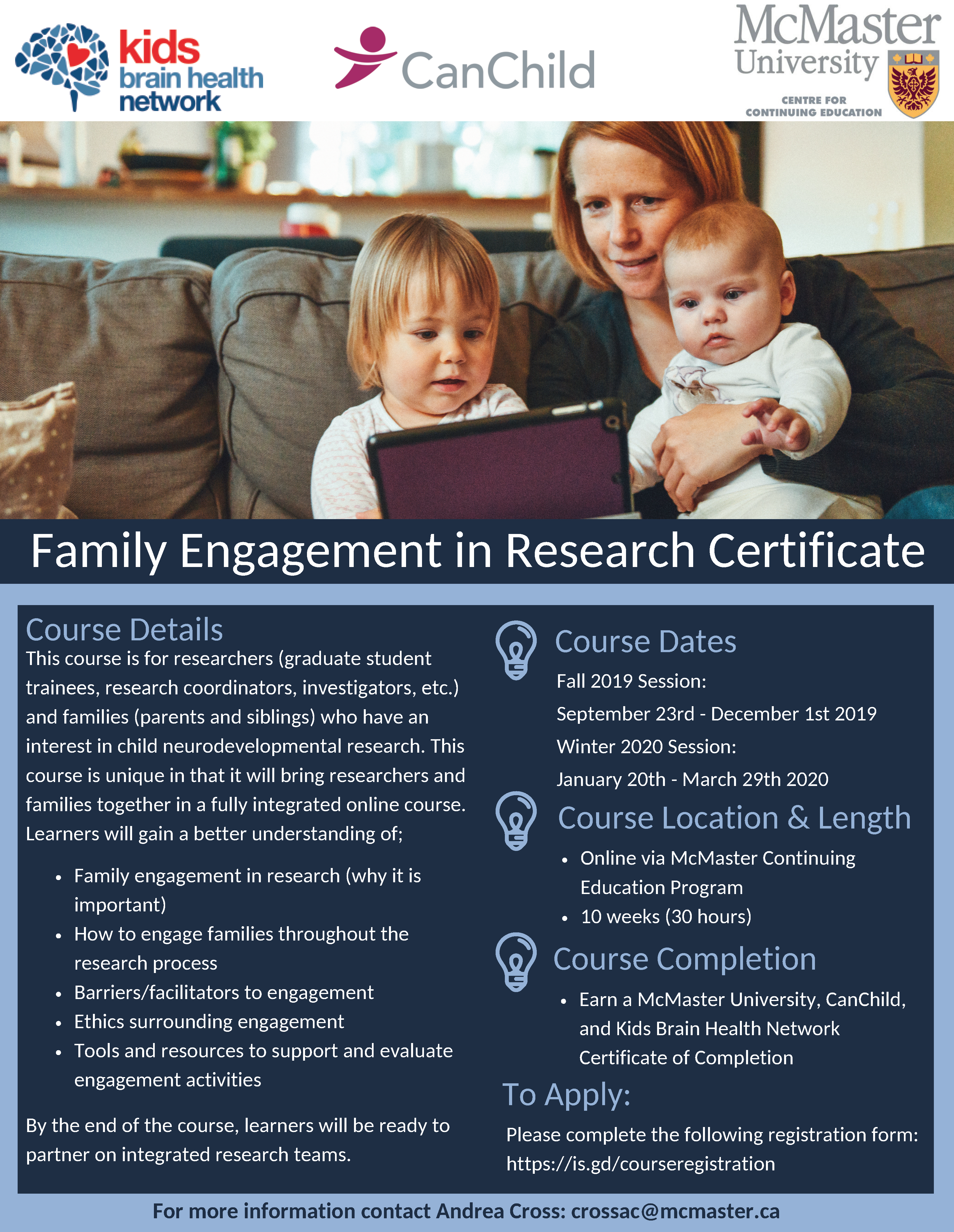 Fall 2019/Winter 2020 Family Engagement in Research Certificate Registration Now Open!